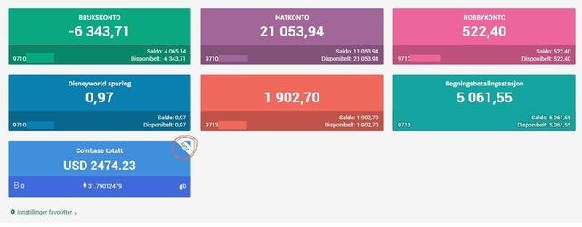 This is how Skandianbanken account with cryptocurrencies illustration