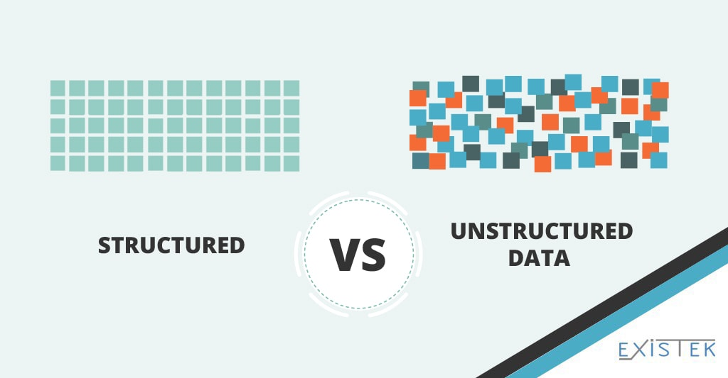 Structured and unstructured big data in the big data software solutions illustration image