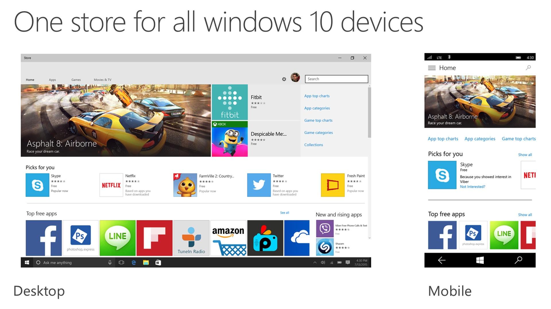 Windows 10 application development store for UWP apps
