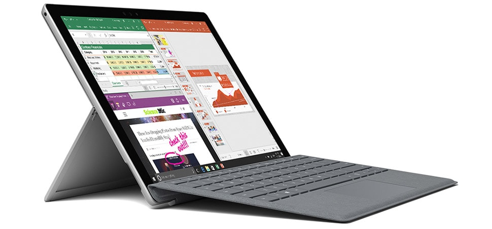 surface pro as an example of the device for the UWP apps platfrom
