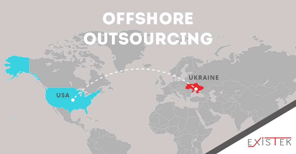 offshore software development illustration scheme