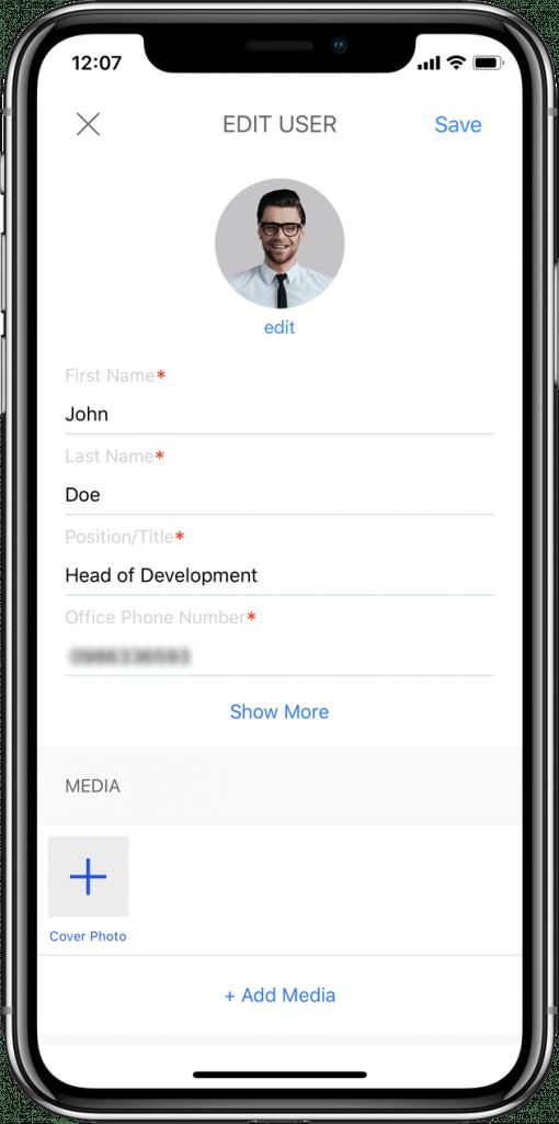 mobile application screenshot