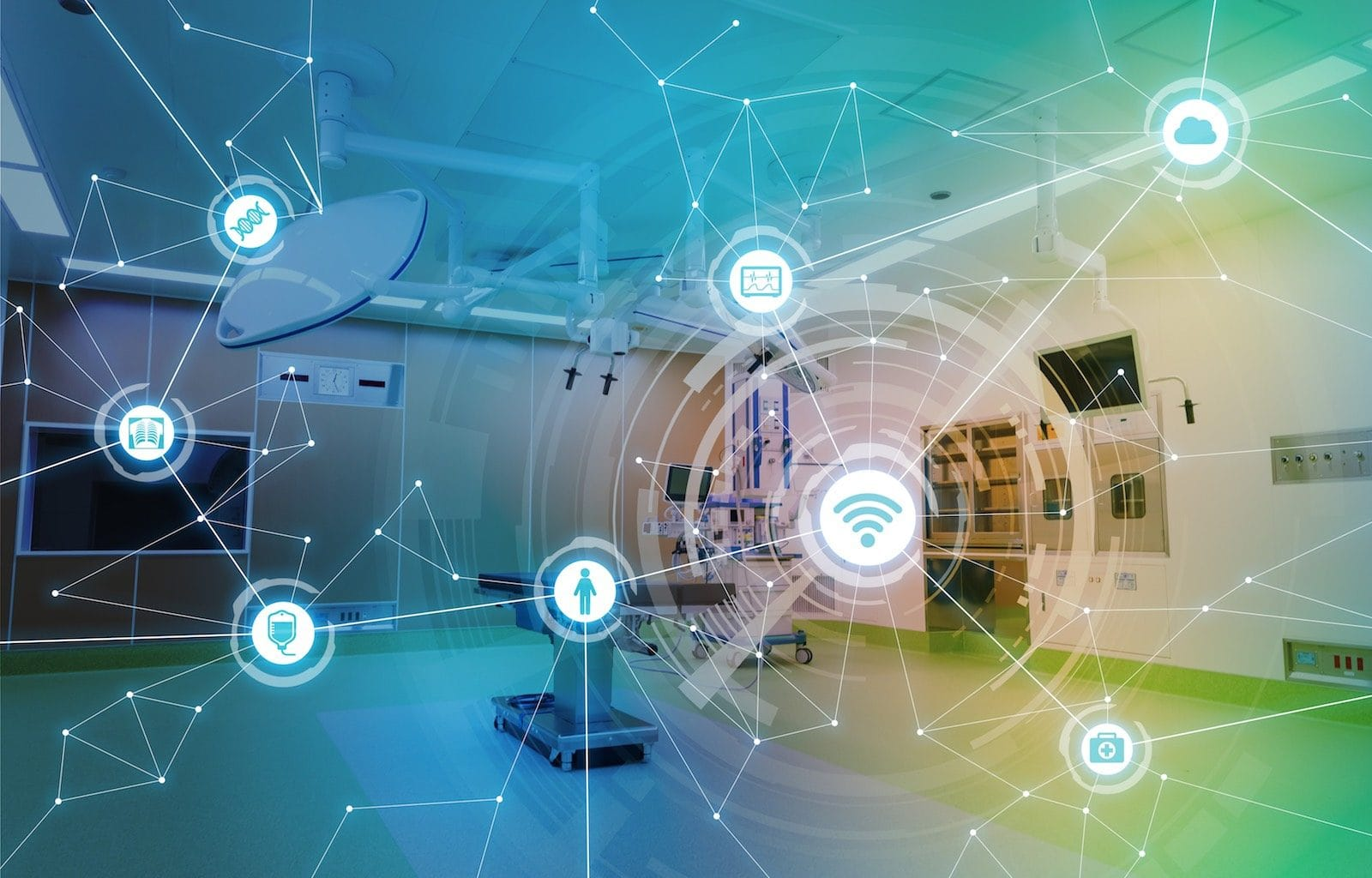 IoT in healthcare in hospitals illustration