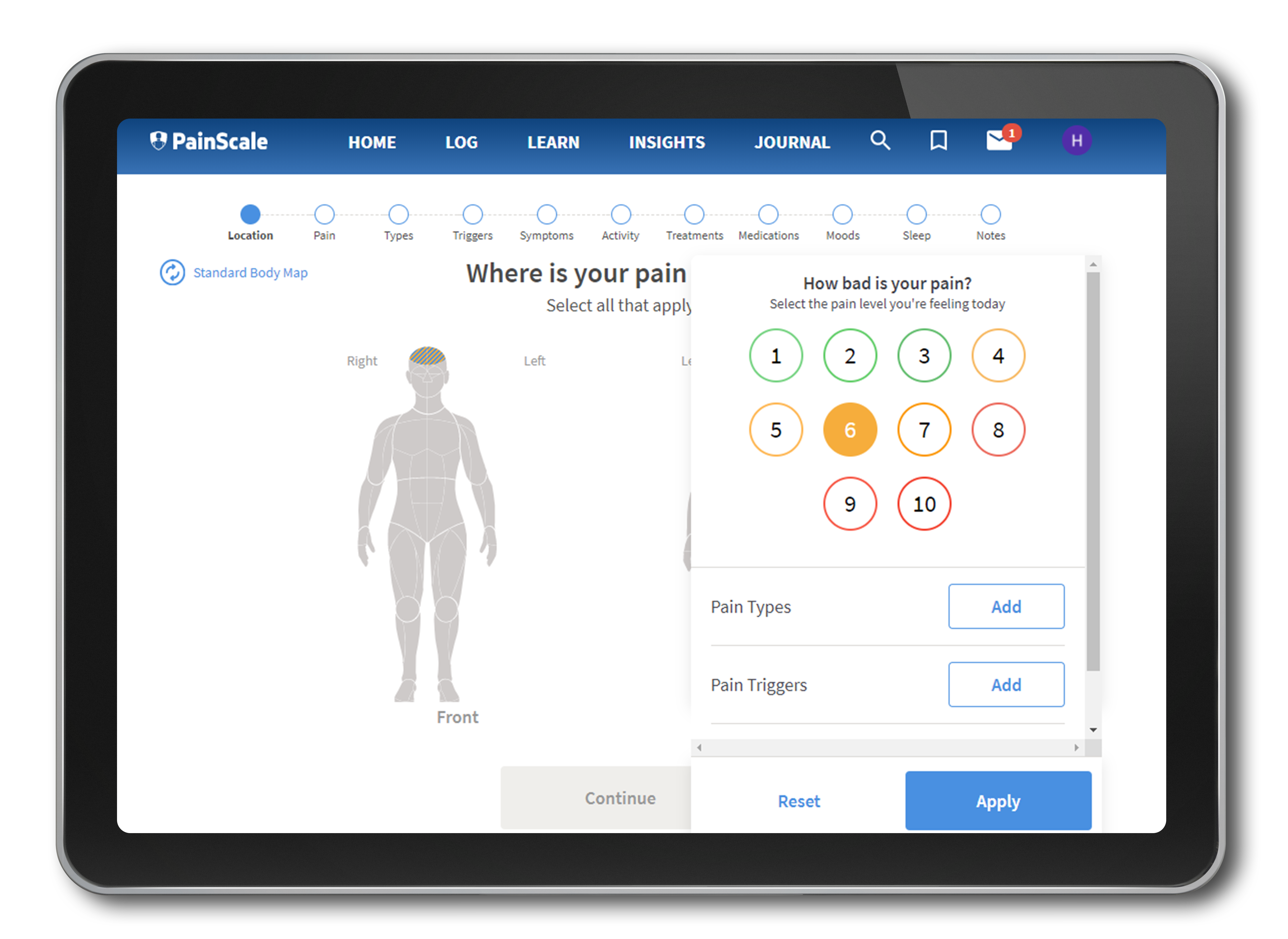 PainScale - healthcare application