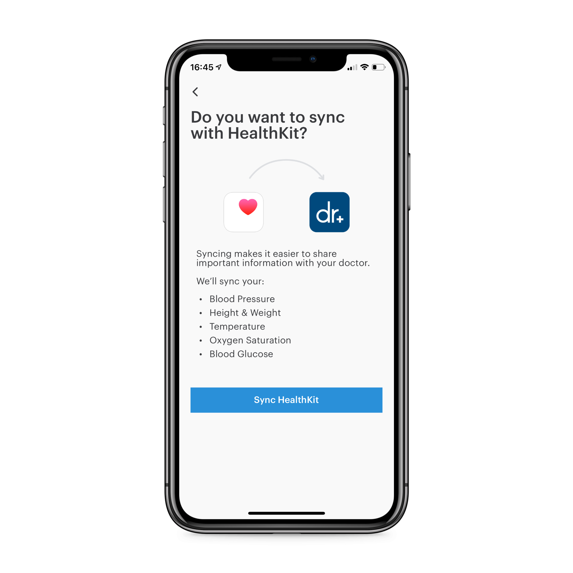 Patient's app: integration with eHealth apps