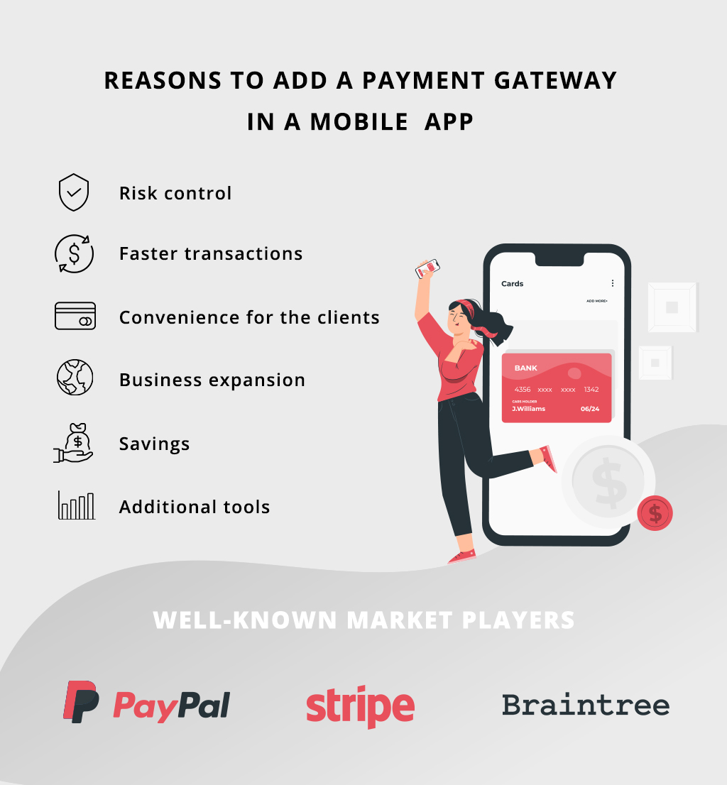 Reasons to add payment gateways in mobile apps