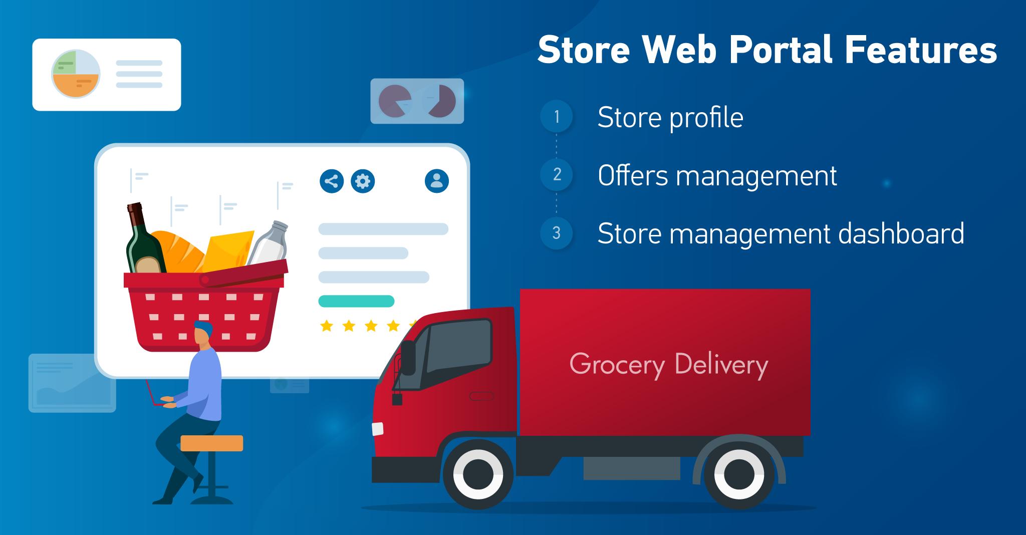 Store web portal features