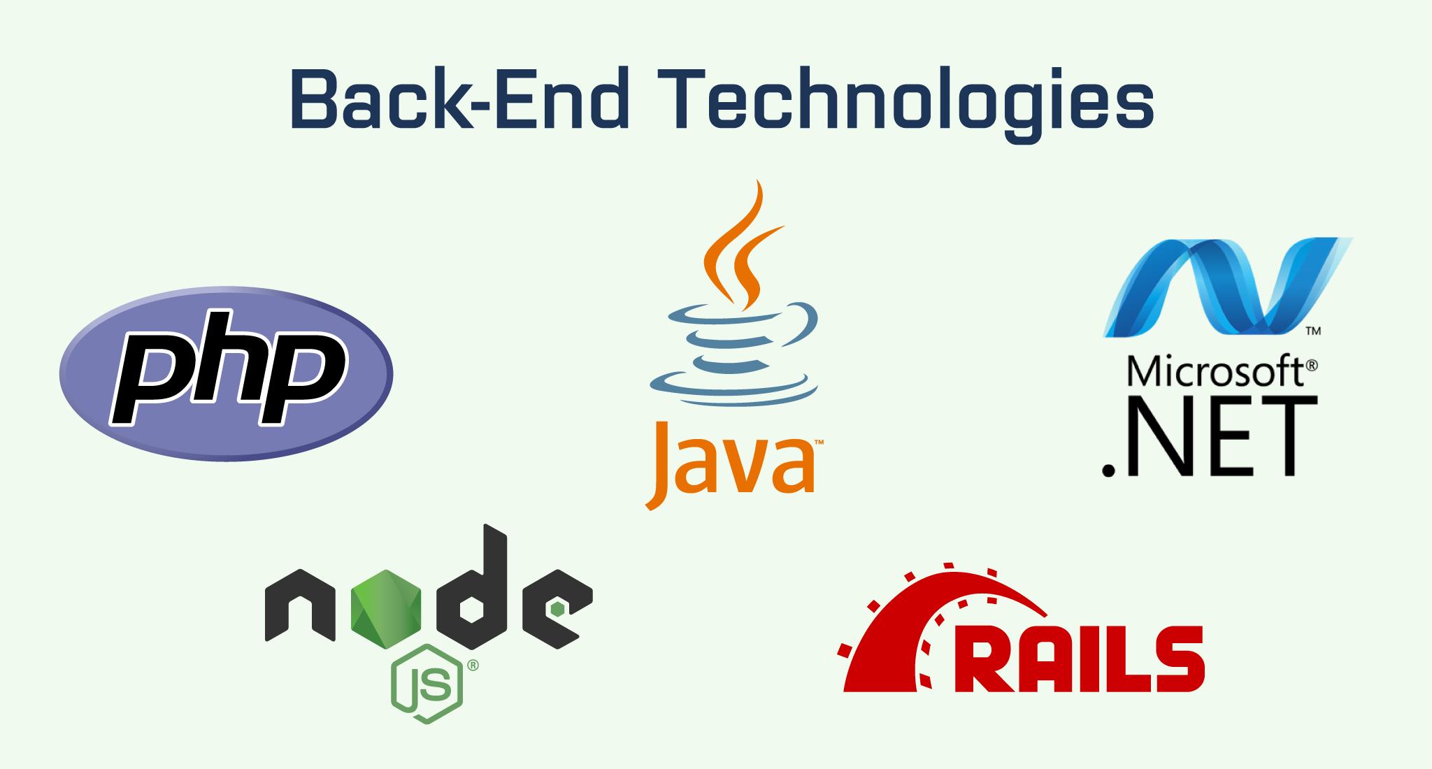Back-end technologies