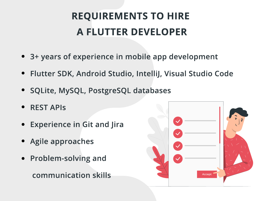 requirements to hire a Flutter developer