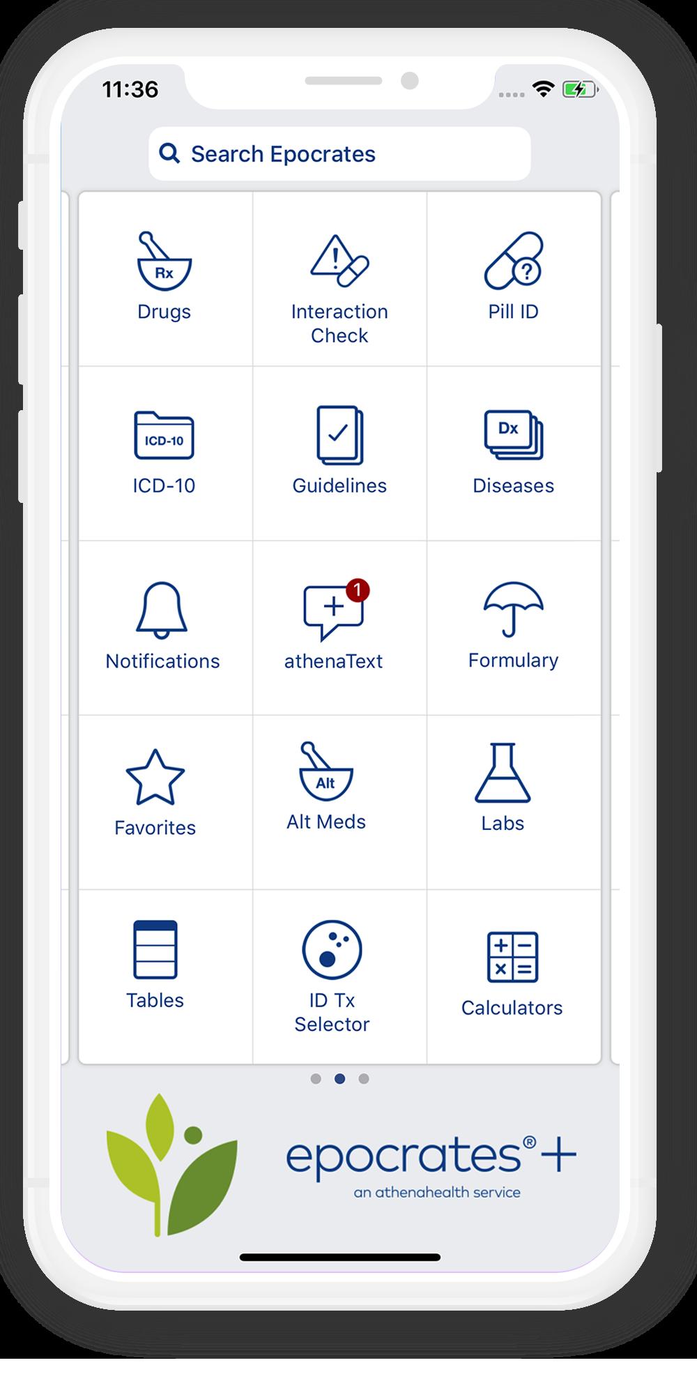 Epocrates - healthcare application development