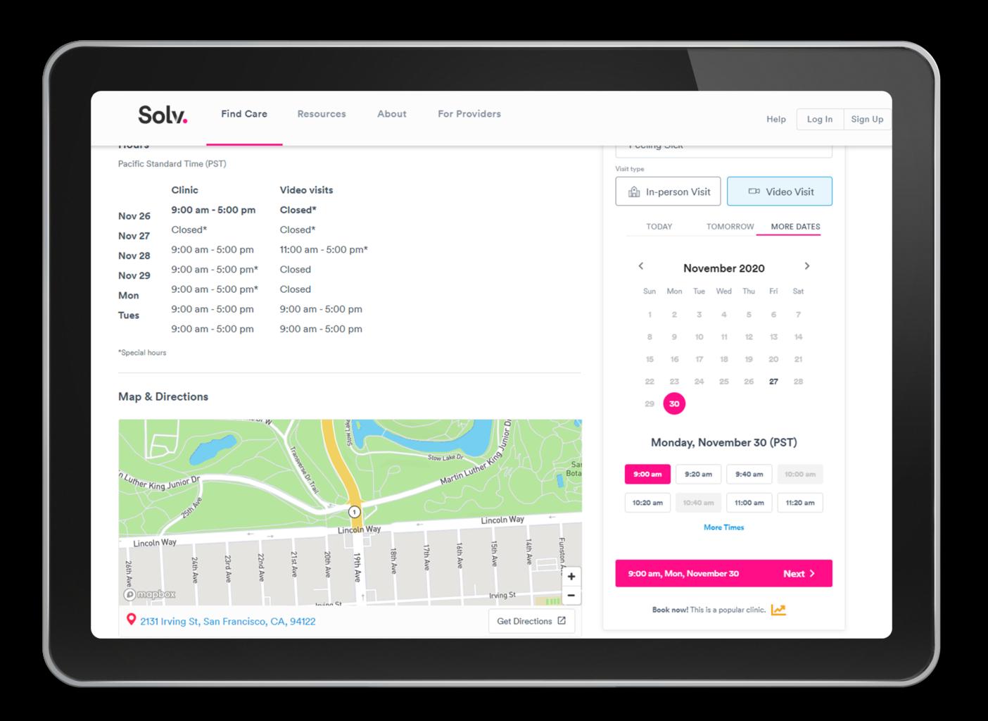 Solv -medical app development