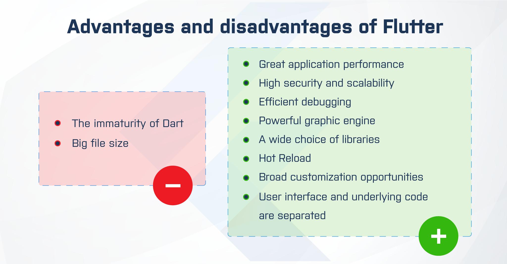 disadvantages and advantages of flutter app development
