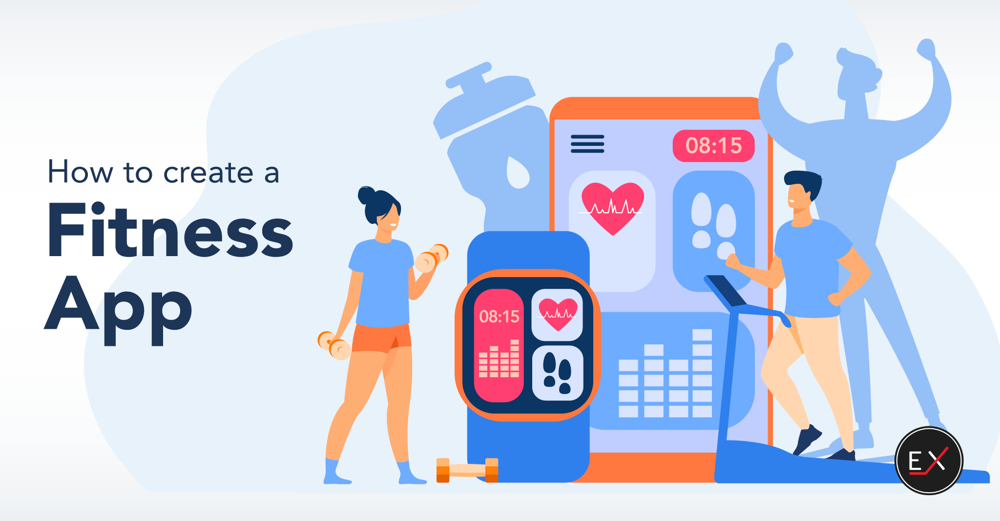 how to create a fitness app - blog cover
