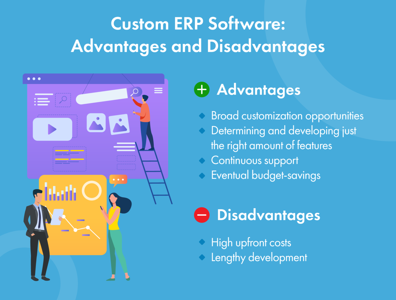custom ERP software: pros and cons