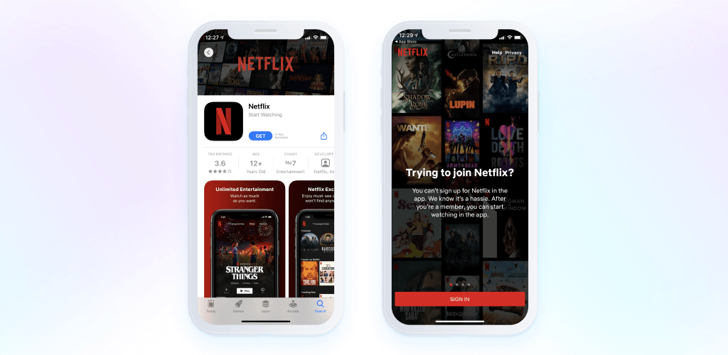 Netflix - app screenshots