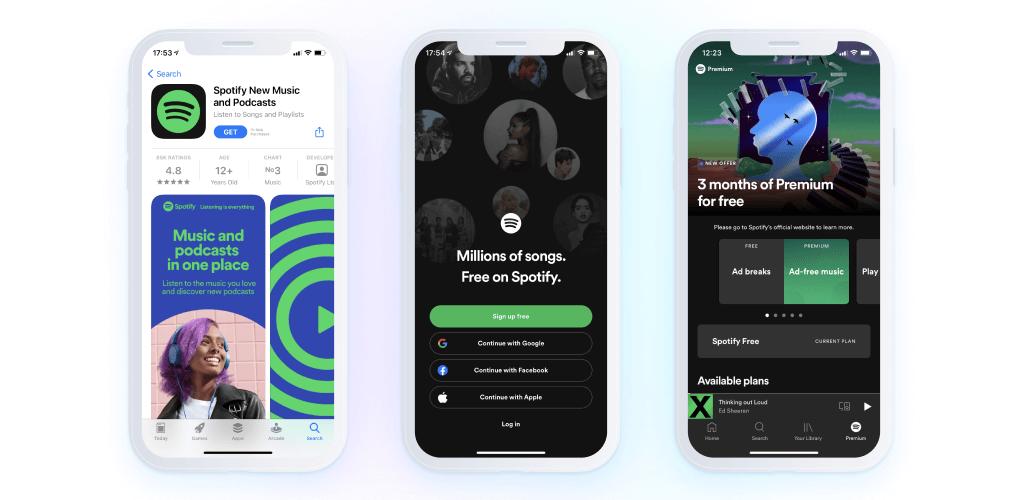 Spotify - app screenshots